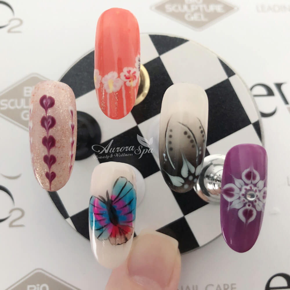 Gel Nail Art - Hand Painted