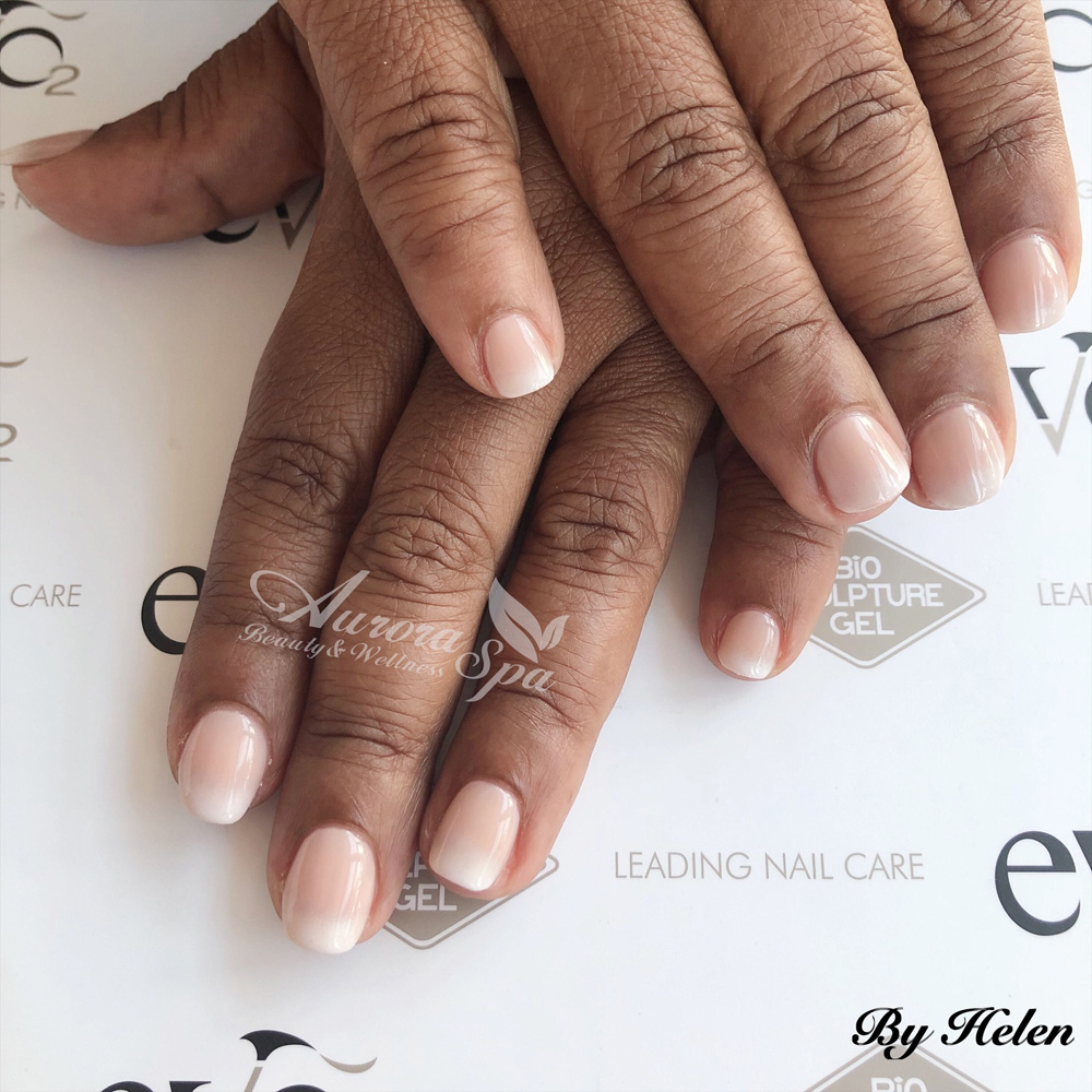 Natural Nail Overlay - French Ombre