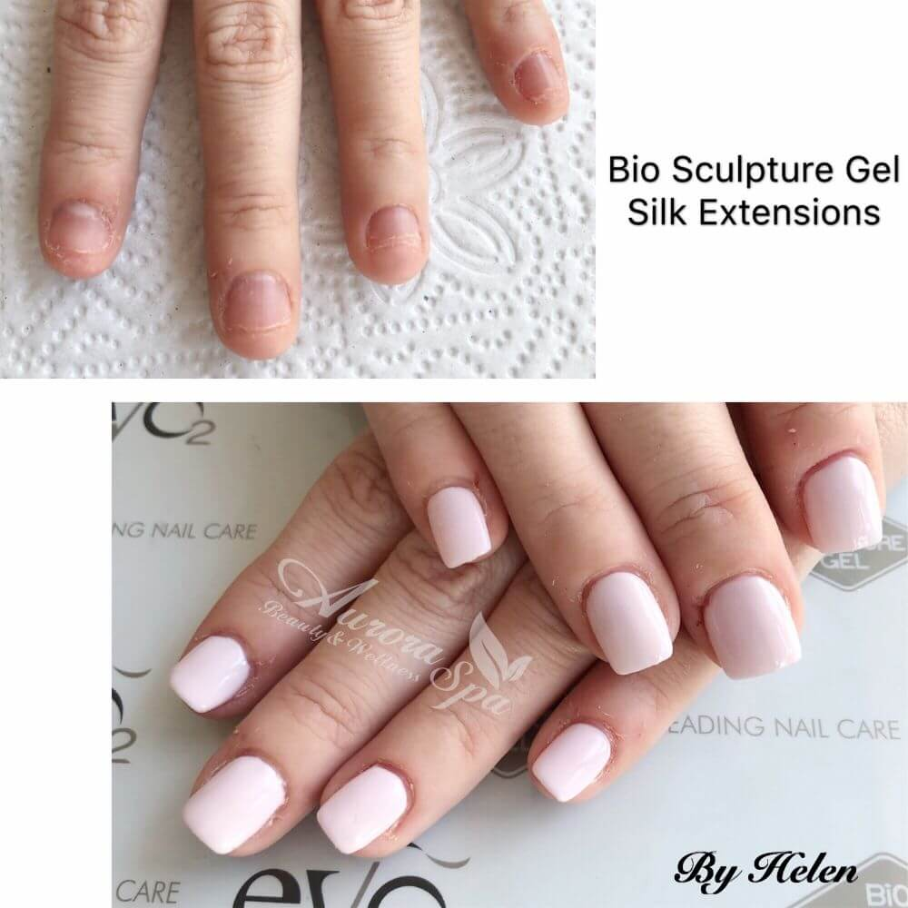 Before & After Bio Sculpture Gel Glueless Tips Extensions