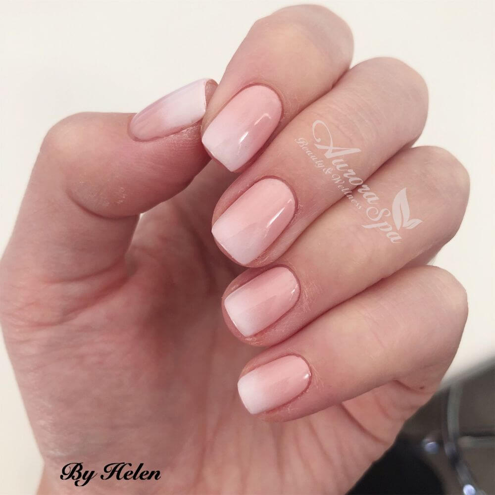 French Ombre Gel Overlay Nailart