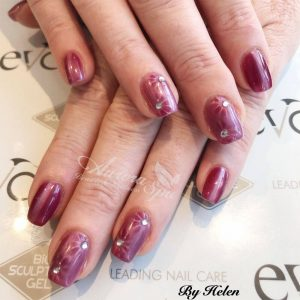 Magnetic Gel Overlay with Nailart
